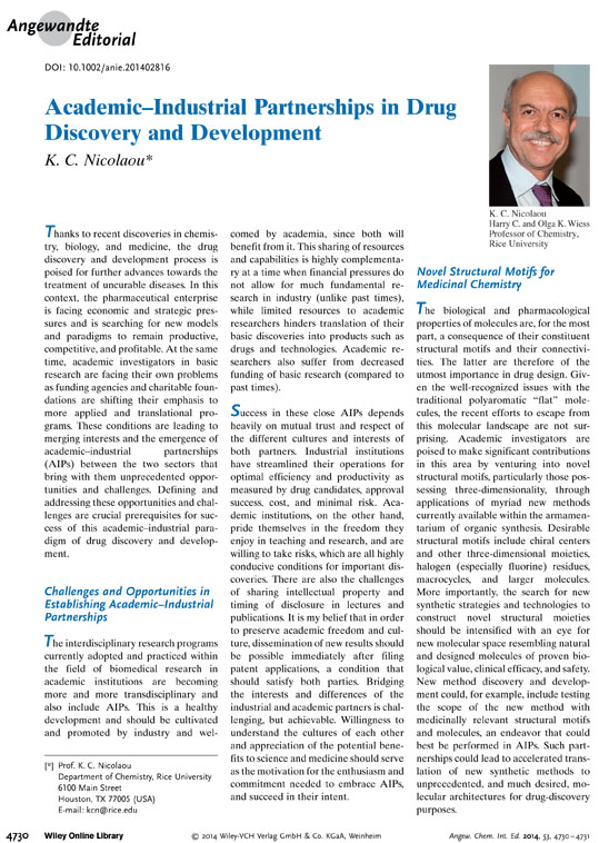 Academic–Industrial Partnerships in Drug Discovery and Development