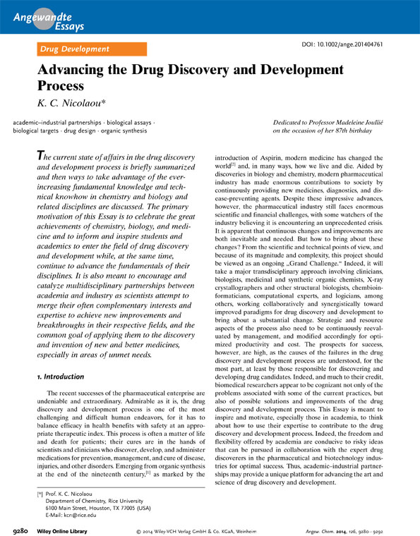 Advancing the Drug Discovery and Development Process